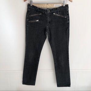 Rag & Bone Moto Jeans Faded Black Wash Size 28